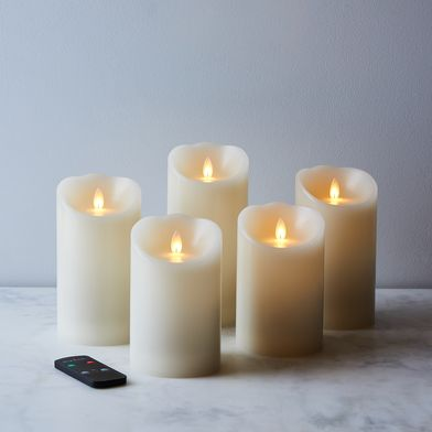 Flameless Wax Candles with Remote