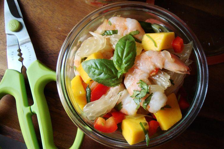 Pomelo Mango Shrimp Salad