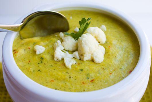 Creamy Cauliflower Saffron Soup