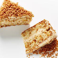Layered Toffee Crunch Cake
