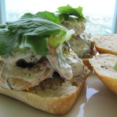 Herbed Shrimp Salad on Focaccia