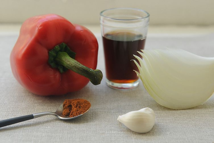 Onion and Red Pepper Confit
