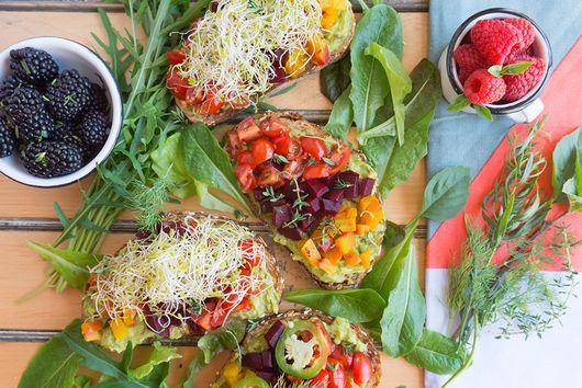 Beet & Avocado Open Faced Sandwiches