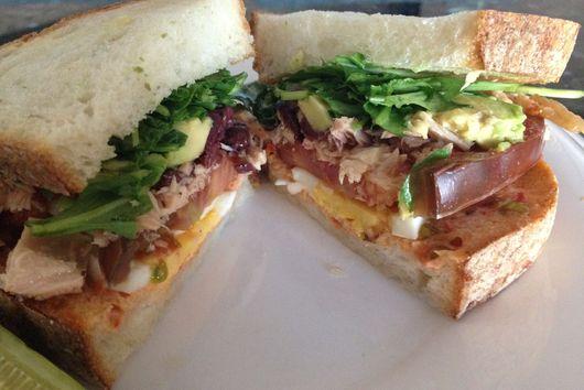 Tunisian Sandwich (Bonito, Cured Lemon & Harissa Mayo Sandwich)