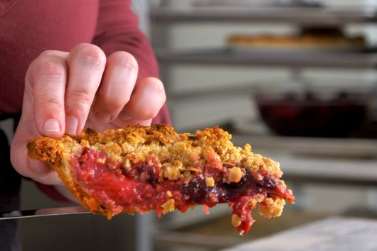 Roasted Blueberry Pie