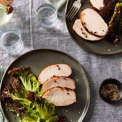 Roast Pork Loin with Pink Peppercorn, Brown Sugar, & Sage