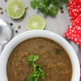 Lentil and beef soup