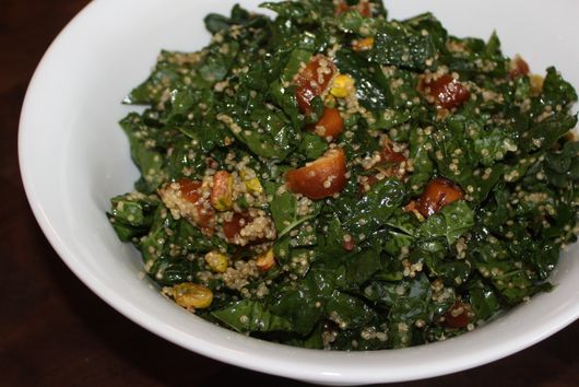 Kale and Date Salad with Quinoa and Pistachios