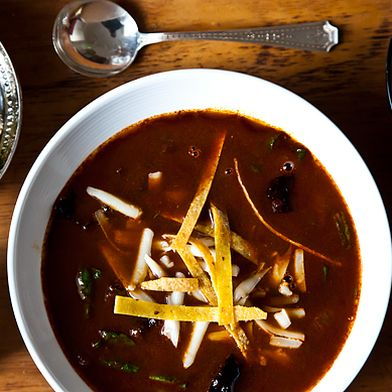 Rick Bayless' Tortilla Soup with Shredded Chard by Genius Recipes