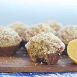 Meyer Lemon Muffins with Almond Streusel