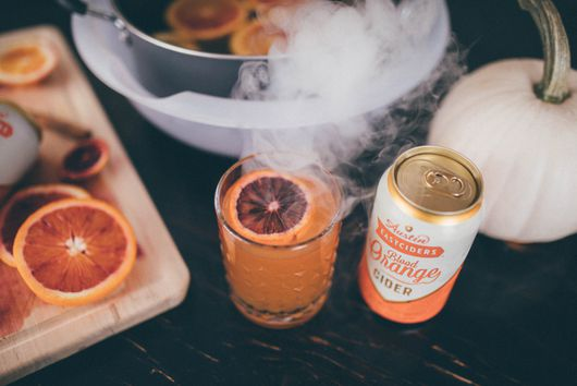 This Spooky Blood Orange Cider Cocktail is a Halloween Must-Have