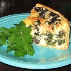 Portobello and Asiago Cheese Tart