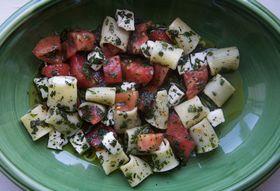 Aa229d5c 6bdb 4481 97b8 5a69aa2fe2e2  mezi rigatoni with tomatoes lots of herbs amp mozzarella