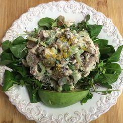 Lemony Chicken Salad with Watercress