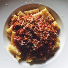 Spicy Turkey Bolognese with Rigatoni