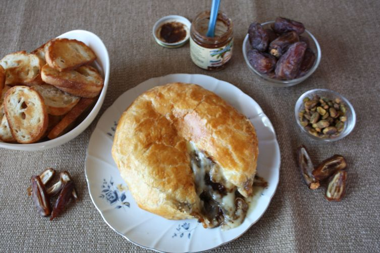 Brie En Croute stuffed with Date Jam