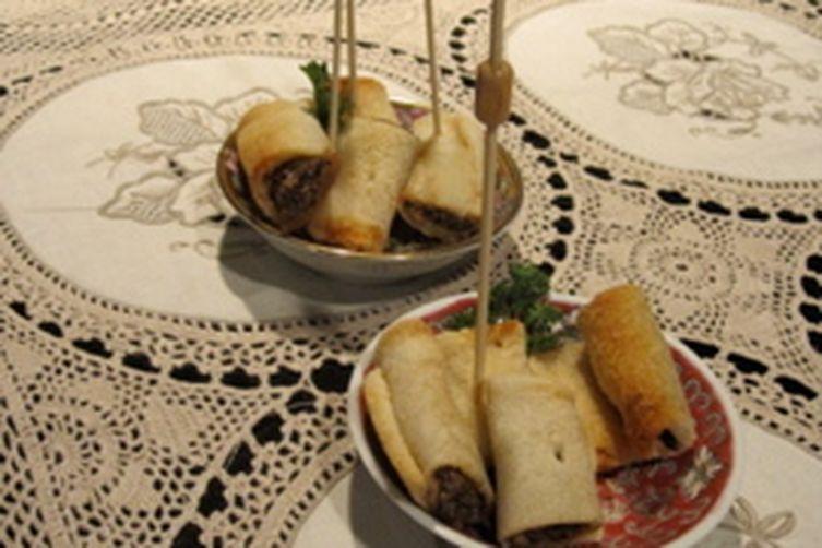 Savory Mushroom Bread Blintzes