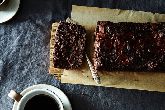 Dark Chocolate and Walnut Zucchini Bread