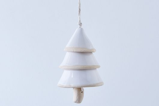 Ceramic Tree Bell Ornament