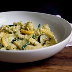 Pasta with Summer Squash, Tarragon, Ricotta & Honey