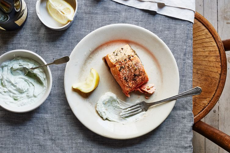 Perfect roast salmon is, well, perfect.