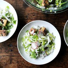 Rice Noodles with Herbs, Radishes, Snap Peas and Creamy Nuoc  Cham