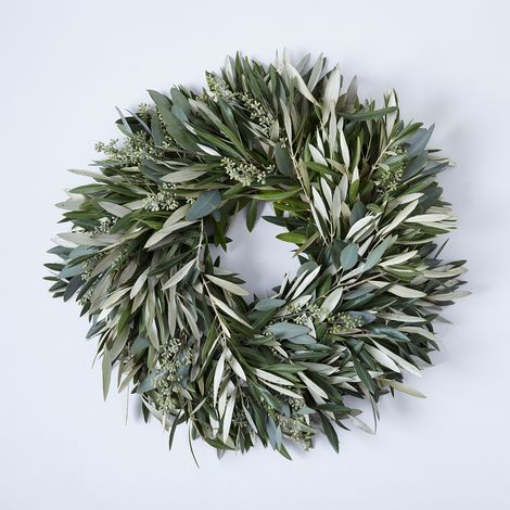 Fresh Olive & Eucalyptus Wreath