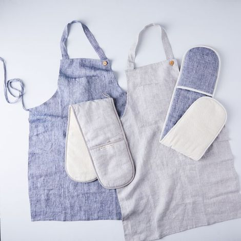 Food52 x Farmhouse Pottery Double Oven Mitt & Apron Gift Set