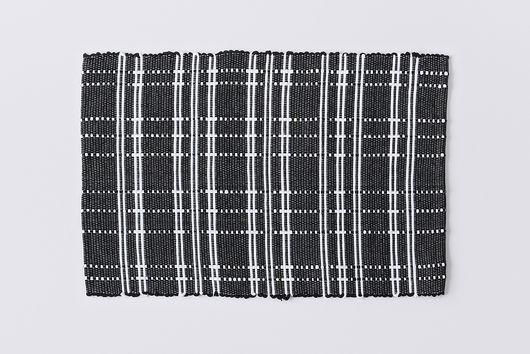 Modern Cotton Black & White Indoor Mats