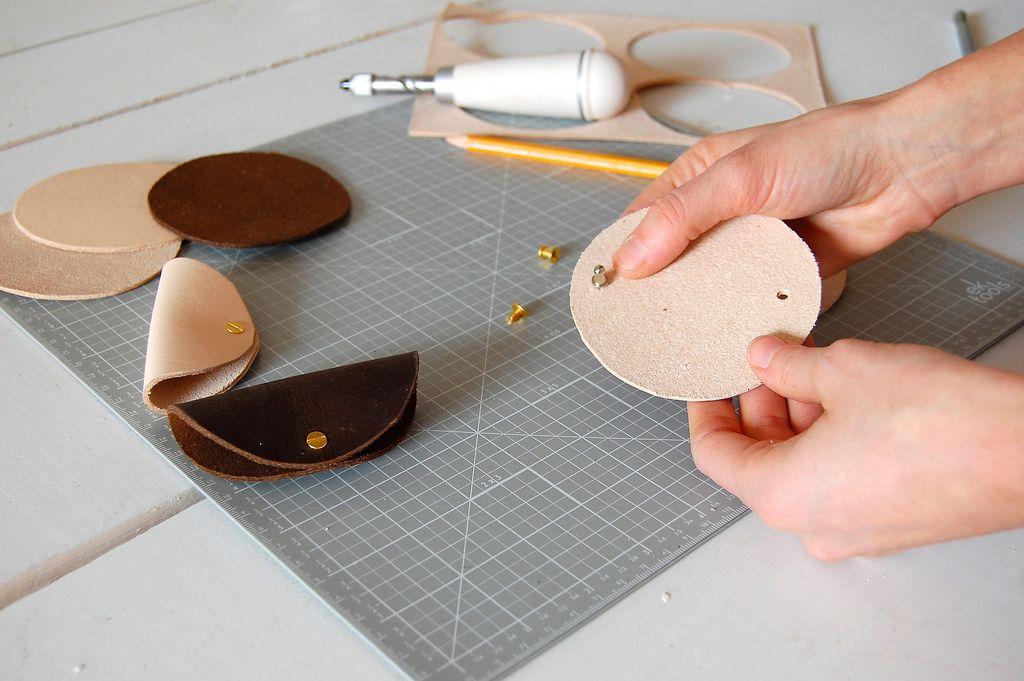 Laura Kaesshaefer DIY Leather Headphone Holder