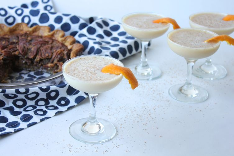 Pecan Pie Bourbon Milk Punch