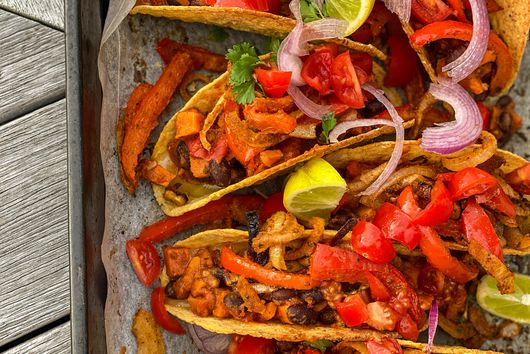 Vegan Sweet Potato & Black Bean Tacos