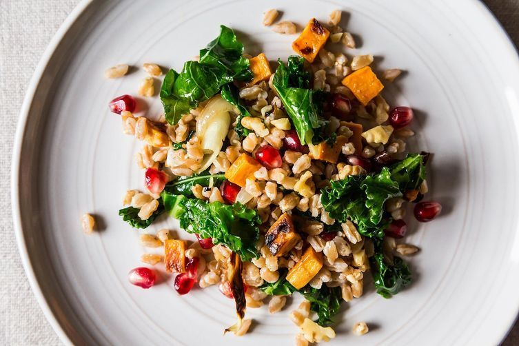 Dinner tonight farro with roasted sweet potato kale and dinner tonight farro with roasted sweet potato kale and pomegranate seeds forumfinder Choice Image