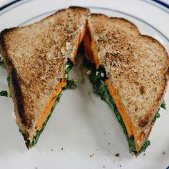 Hummus and Sweet Potato Sandwich