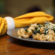 Spanakopita-Inspired Creamy Baked Pasta