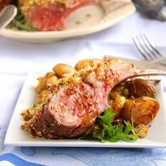 Herb Crusted Rack of Lamb with Honey-Dijon Sauce