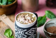 Hazelnut Hot Chocolate Green Smoothie