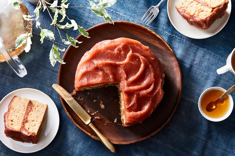 """Ginger Cake with Apple Butter """"Frosting"""""""