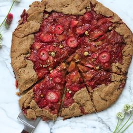 Rustic Rhubarb, Strawberry & Chamomile Galette