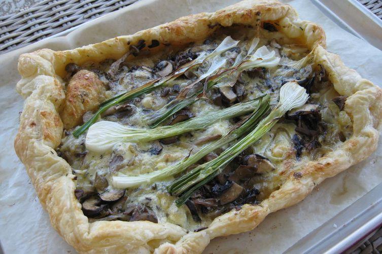 Wild Mushroom Onion Galette with Brie