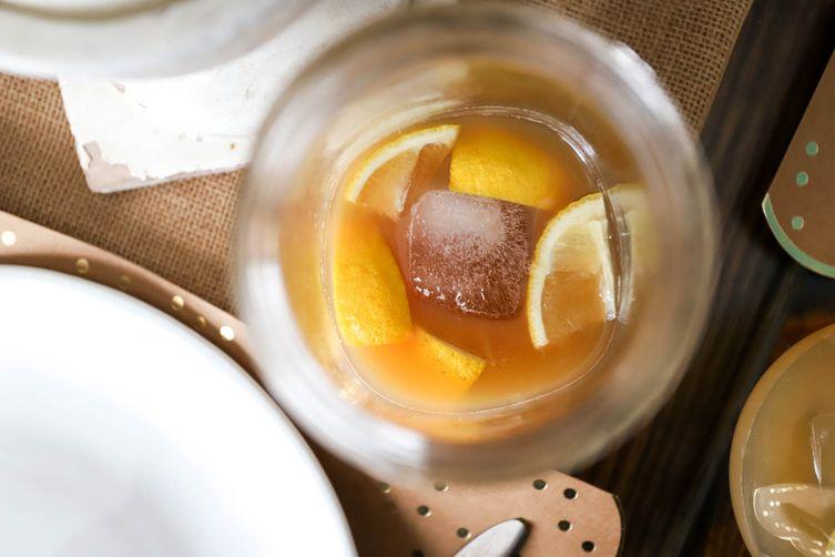 Bourbon Apple Cider Spritzer