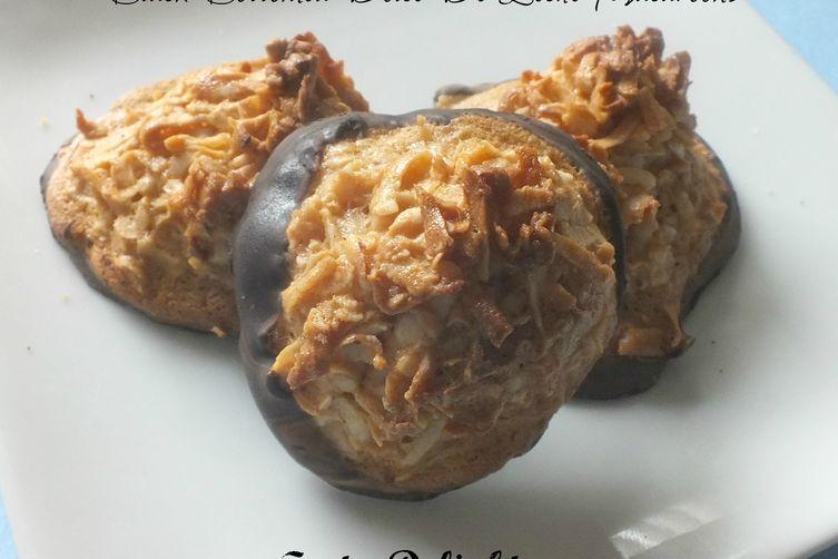Black Bottomed Dolce De Leche Macaroons