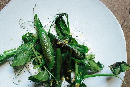 Charred peas