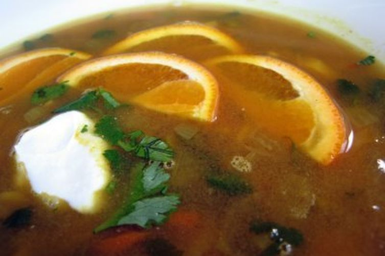 Curried Citrus Lentil Soup