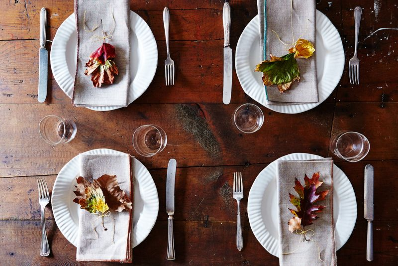 Can you imagine a more autumnal place setting?