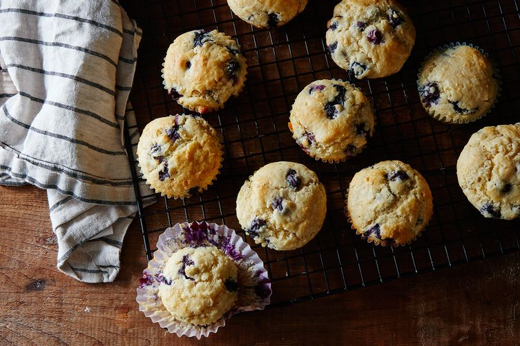 Mom's Blueberry-Coconut Muffins