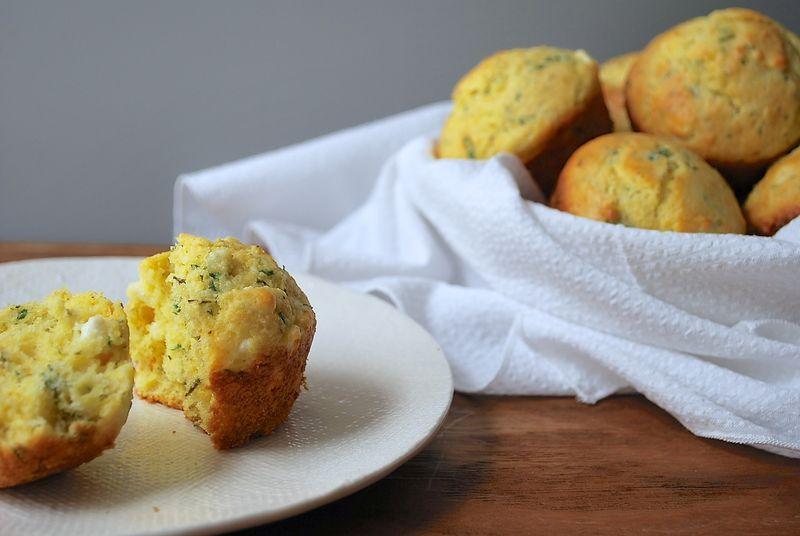 Cheesy Herbed Corn Muffins