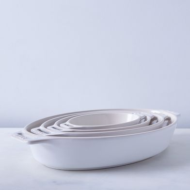 Staub Ivory Rustic Ceramic Oval Baking Dishes