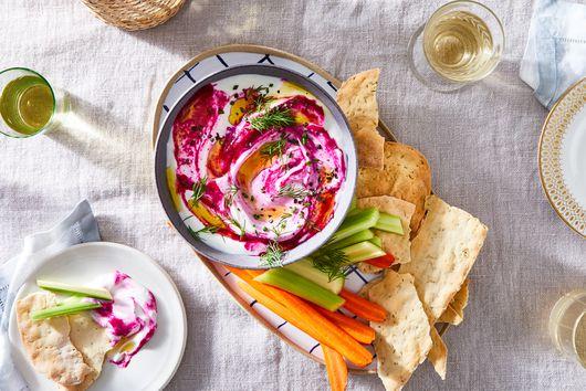 Horseradish & Beet Yogurt Dip
