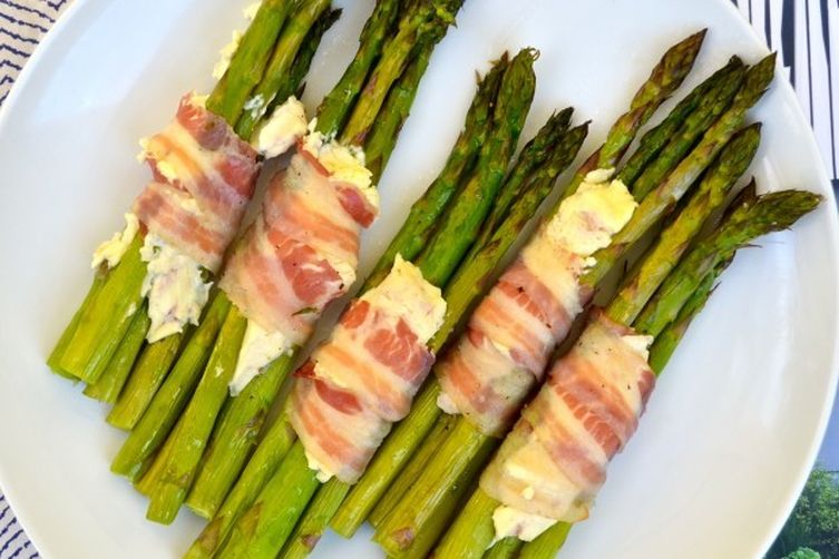 Asparagus Stacks with Pancetta & Sweet Hibiscus Cream